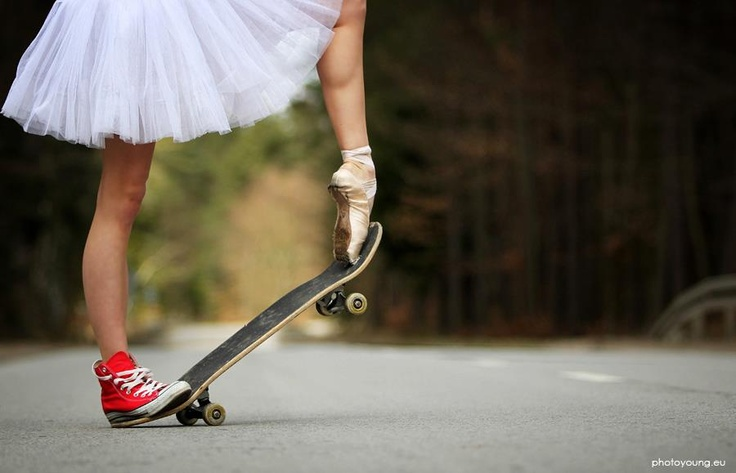 Pointe shoes and Converse. I like it