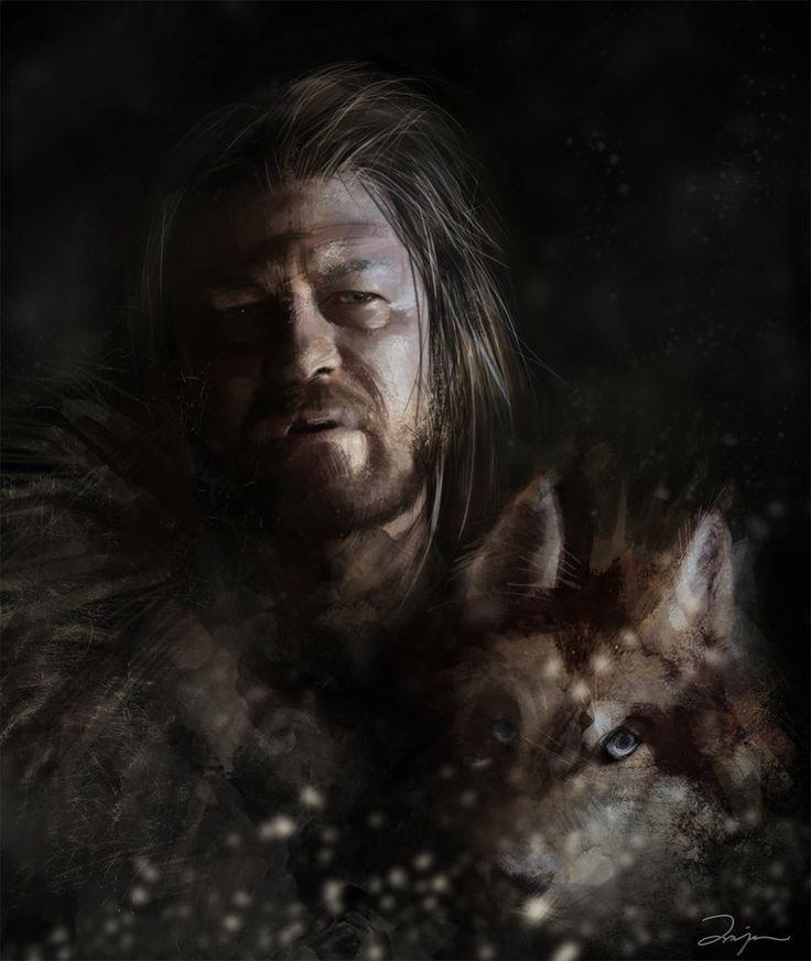 Eddard Stark by *AniaEm