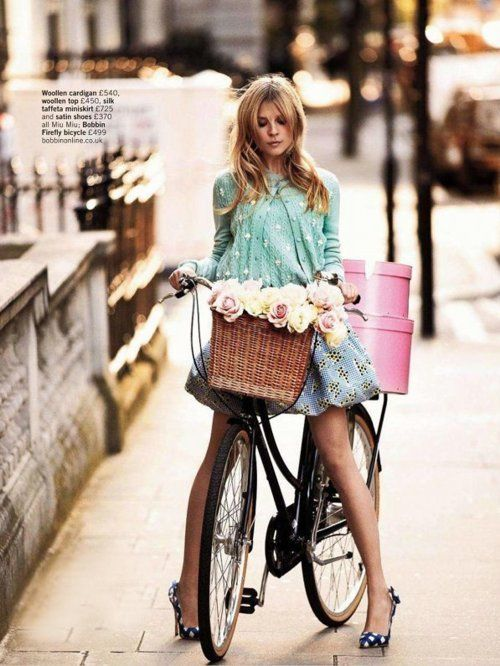 Hats Boxes, Bicycles, Fashion, Style, Clemence Poesy, Bikes Riding, Baskets, Riding A Bikes, Flower