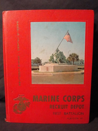 US  Marine Corps Recruit Depot 1st Battalion Platoon 191 Parris Island Yearbook