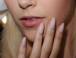 Matt almond nails