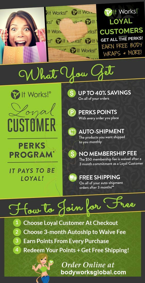 perkpoints.howtonow.org It PAYS to be Loyal. Earn FREE products as an It Works Loyal Customer!!