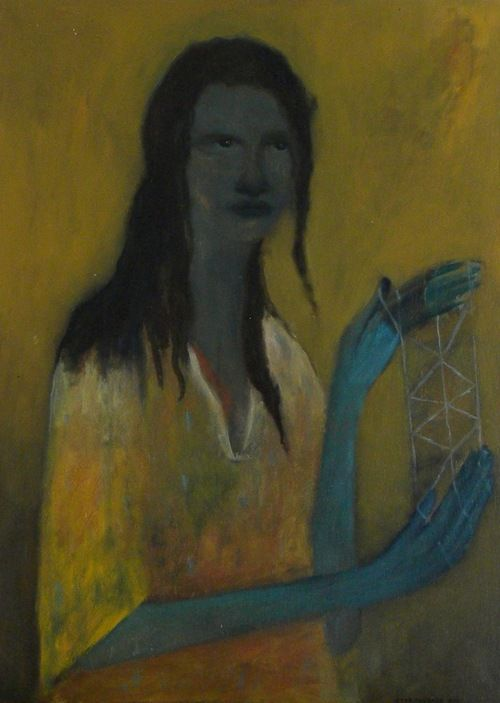Whai (2011) Star Gossage, Oil on board, 83.5 x 60cm http://paulnache-stargossage.tumblr.com/