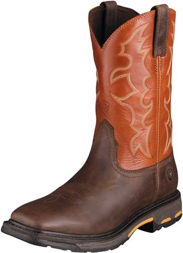 Ariat work boots (square toes)