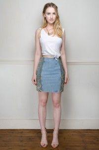Vintage Roccobarocco denim pencil skirt - Skirts - Womens Vintage   Retro & Vintage Clothes UK