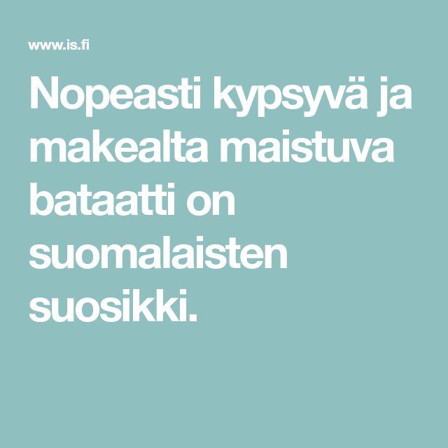 Nopeasti kypsyvä ja makealta maistuva bataatti on suomalaisten suosikki.