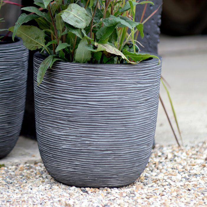 Mercury Row Crux Round Pot Planter U0026 Reviews | Wayfair.co.uk