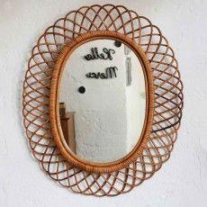 Vintage rattan mirror - copyright atelierdupetitparc.fr