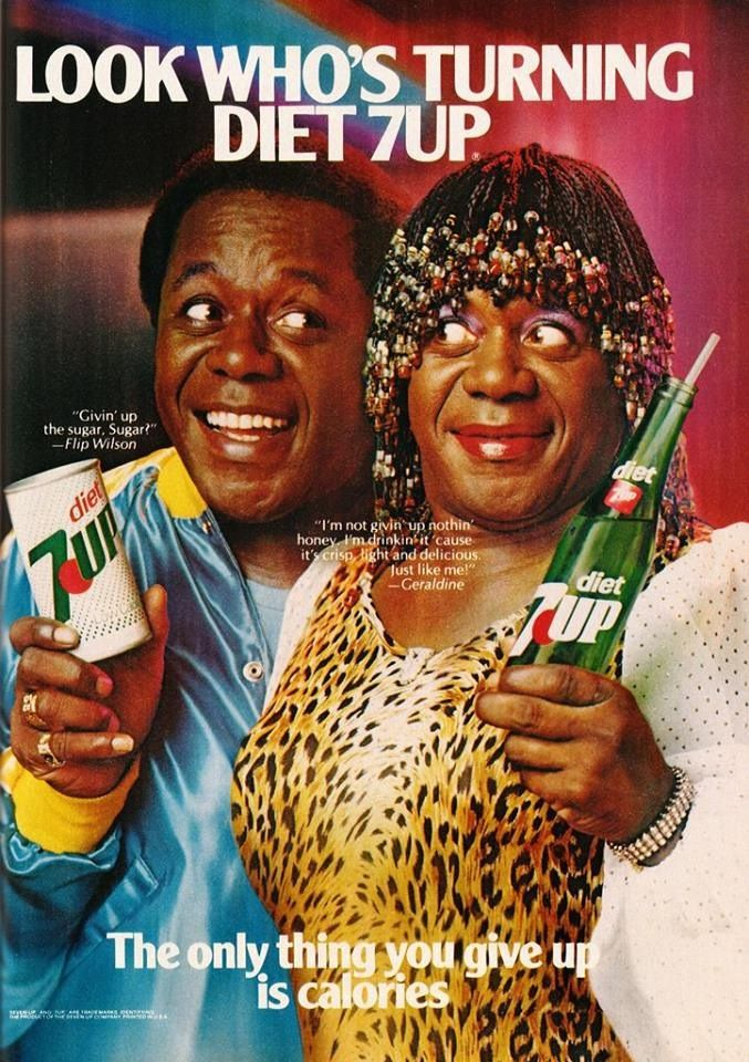 1970s ad for 7UP with Flip Wilson
