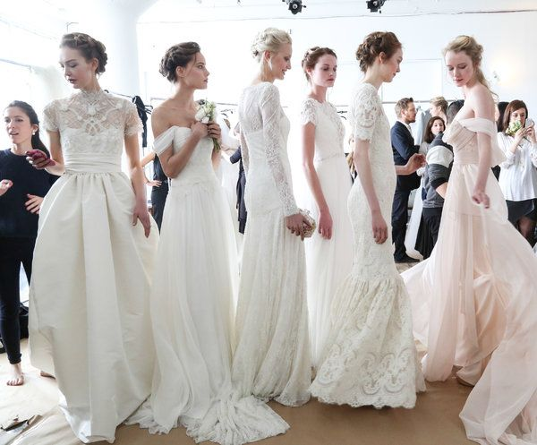 New York Bridal Fashion Week - Spring 2015 - The Latest Bridal Dress Collections Showed Few New Wrinkles - NYTimes.com