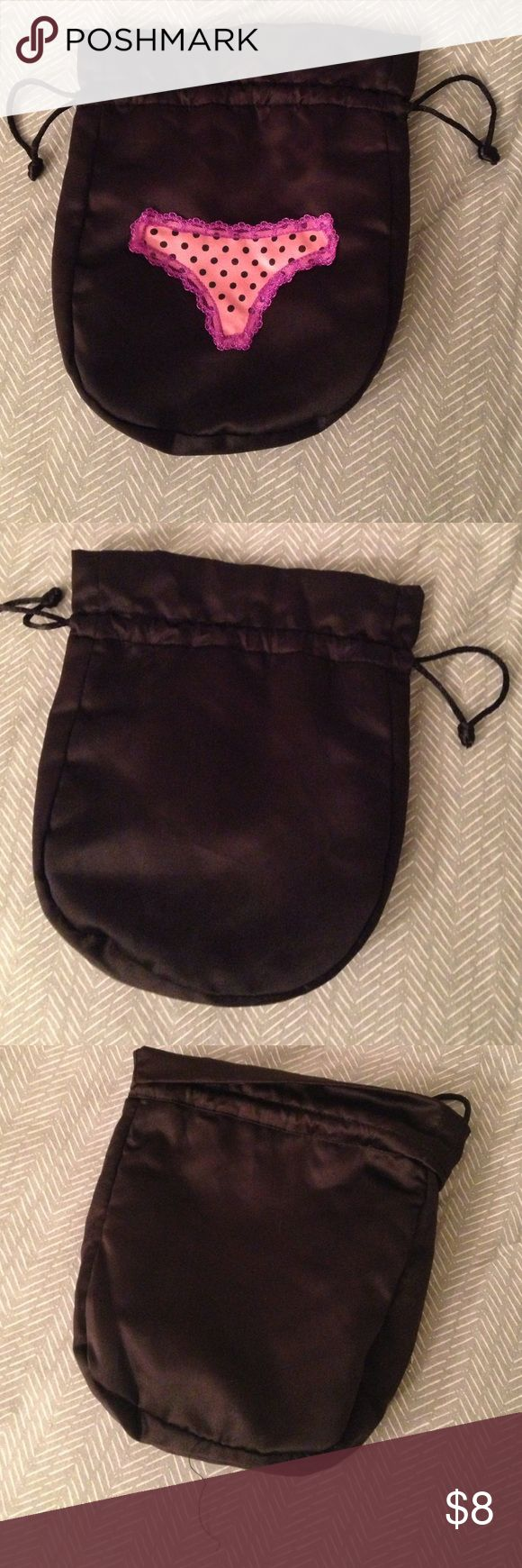 Victoria's Secret Drawstring Panty Bag Satin drawstring panty pouch. Great condition. Only used for jewelry storage. Victoria's Secret Other