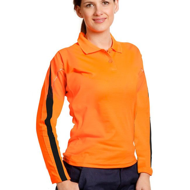 ETTA | Ladies Truedry Hi-Vis Long Sleeve Polo