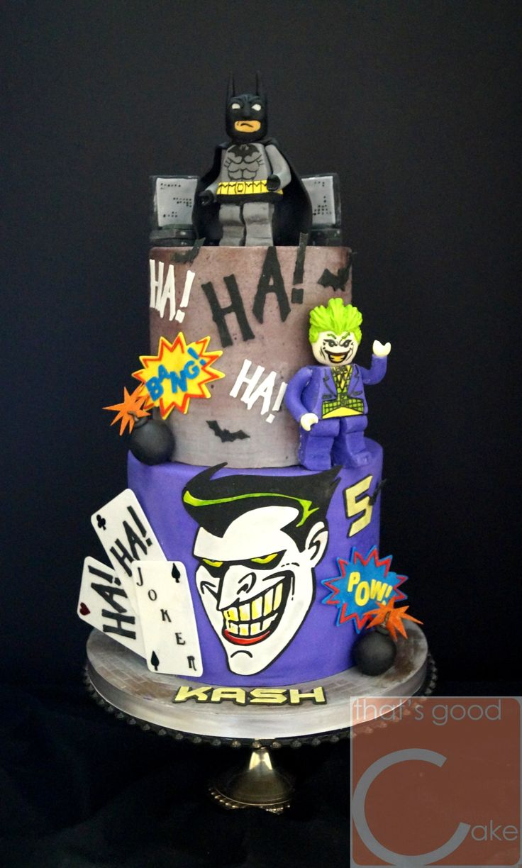 Lego Batman Joker Cake