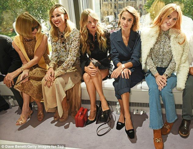 Radiant: The Disney actress looked gorgeous as she sat FROW alongside model Alexa Chung an...