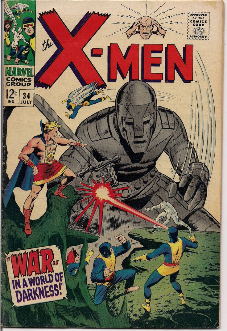 MARVEL XMEN #34 Mole Man Mutants Silver Age Comics Jack King Kirby & Stan Lee 1967 Roy Thomas VG+