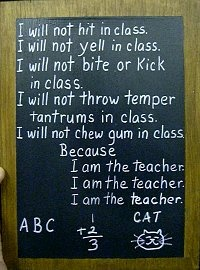 This will definitely be a mantra for some teachers haha