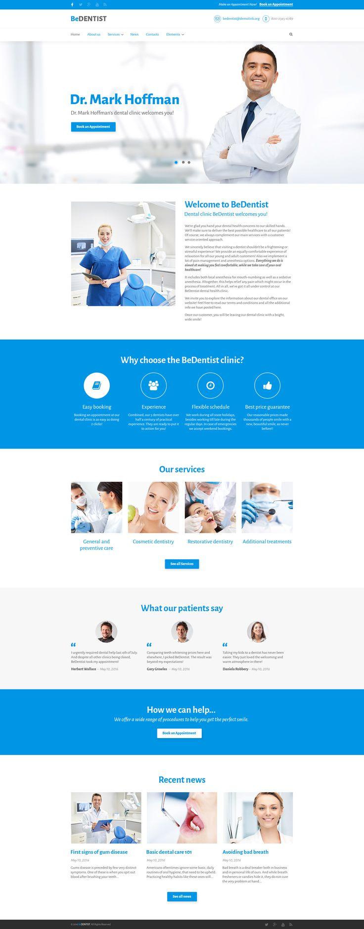 BeDentist - Dentist & Medical Premium Drupal Template #63617
