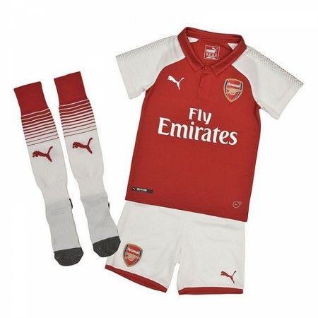 Arsenal Hjemmebanesæt Børn 17-18 Kort ærmer #Billige Fodboldtrøjer
