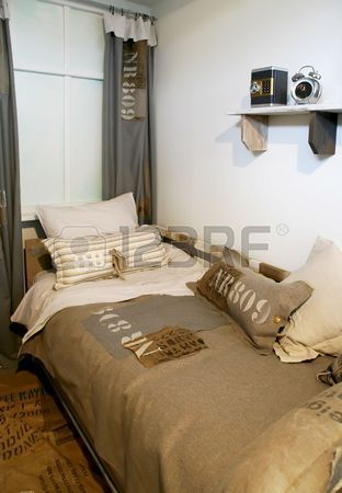 Children bedroom in military style Stock Photo