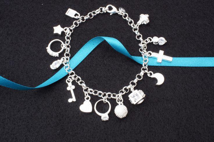 925 silver charm bracelet £9.99