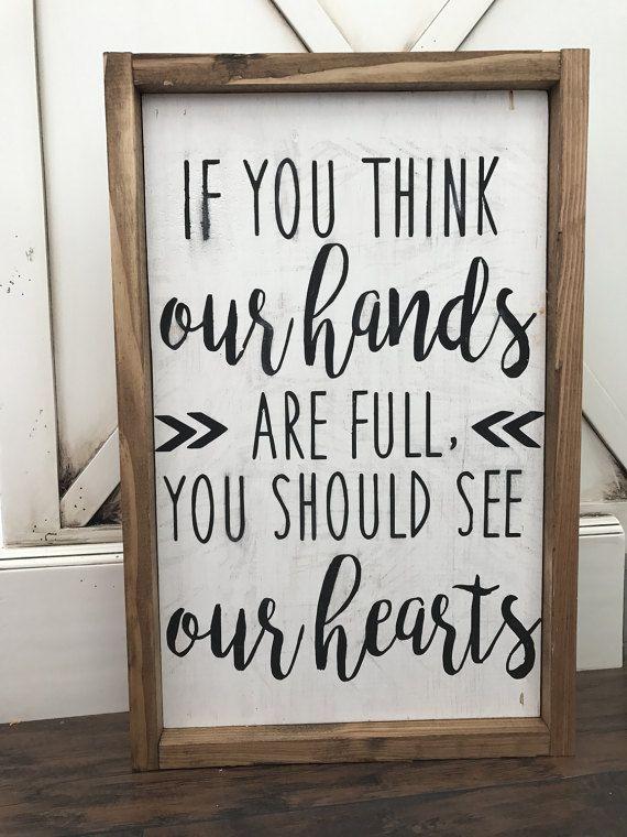 Farmhouse Style Framed Sign by HunnyDoDesigns on Etsy
