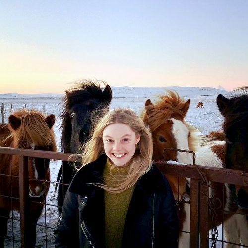 """outlander-news: """"""""Nell.Hudson #Iceland #NYE """" """""""