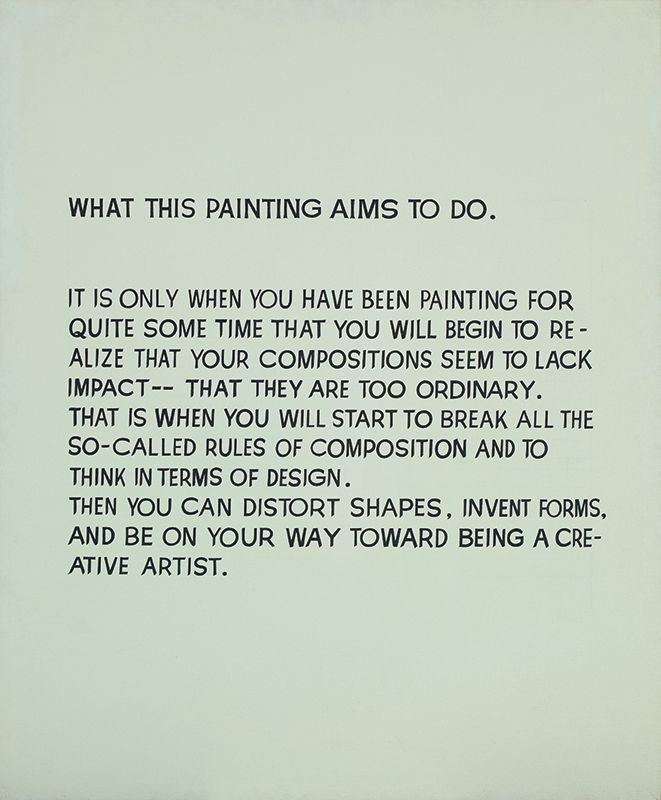 1967 What This Painting Aims to Do