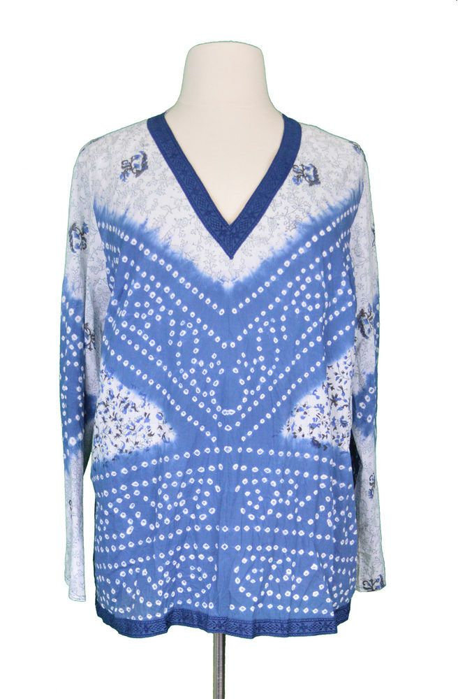 7bb3b1e39ea Lane Bryant Venezia Womens 22 24 Tunic Top Vneck Blouse Blue White NWT Plus  Size #fashion #clothing #shoes #accessories #womensclothing #tops (ebay  link)