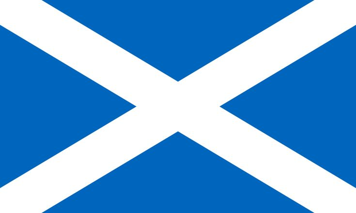 "Flag of Scotland (Saint Andrew's Cross). Often informally referred to as ""the Saltire""."