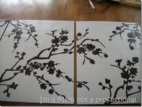 DIY Wall ArtDecor Ideas, Diy Canvas Art, Contact Paper, Cherries Blossoms Art, Paper Art, Diy Artwork, Diy Wall Art, Crafts, Cherry Blossoms