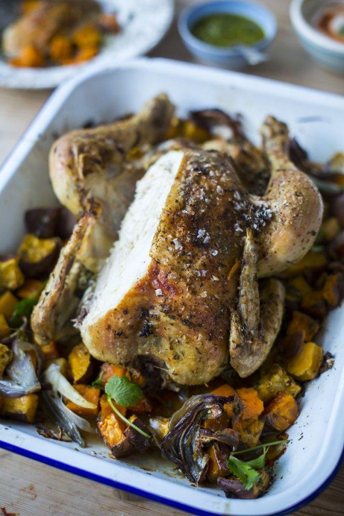 Simple Roast Chicken, Sweet Potato & Coriander Salsa | DonalSkehan.com, A new take on a Sunday roast!