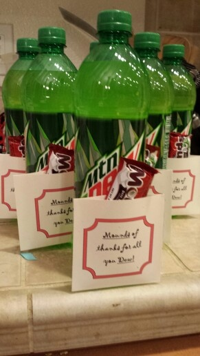 Mounds of thanks for all you Dew. :-) | Random | Pinterest | Thanks