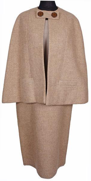 Vintage 60s Norman Norell Cape Suit