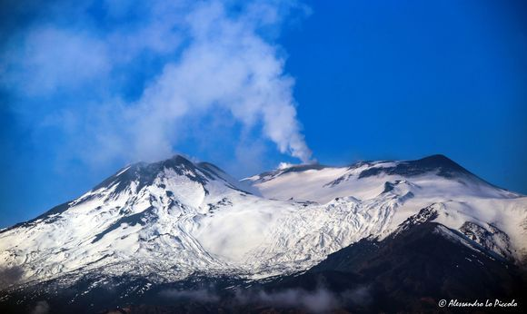 """« ETNA """"in white"""" after the storms... »"""