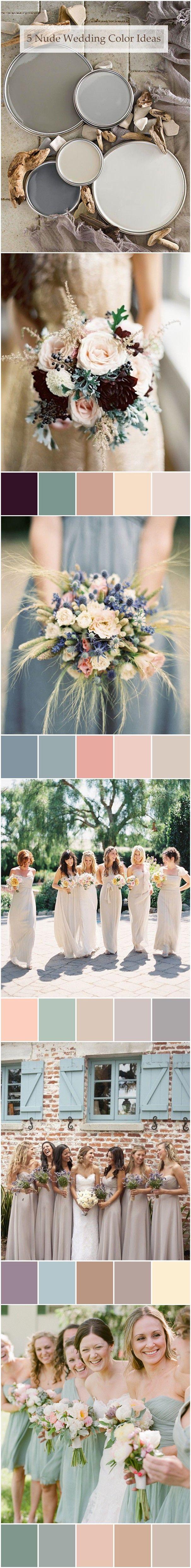top 6 trending nude neutral wedding color ideas #weddingcolors #weddingideas