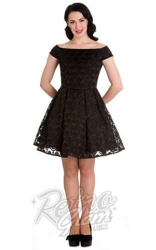 Retro Glam Hell Bunny Paris Black Tail Dress