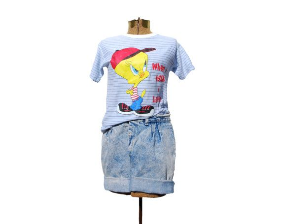 90s Shirt Tweety Bird Shirt Small Looney Toons by LGTvintage
