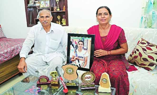 Proud Parents of Monika, who struck a goal in the bronze medal match. Hail the parents who live in Chandigarh.Photo Courtesy: Indian Express.