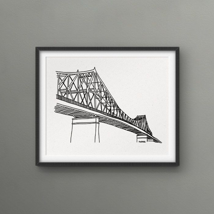 Jacques-Cartier Bridge Montreal Scenery 8x10 Print // Love/Hate Montreal