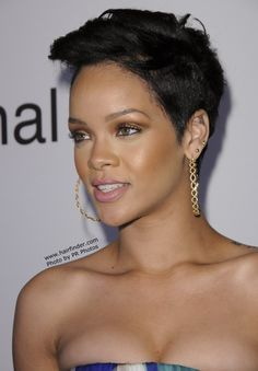 rihanna short hair styles photo - 9