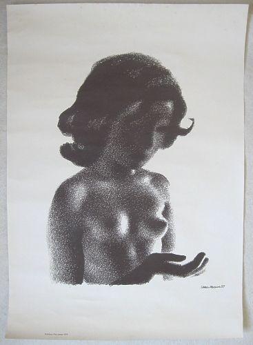 Illustration af ung pige, Sikker Hansen.