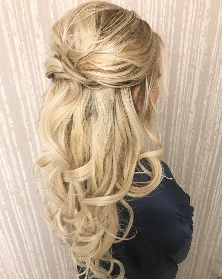 Hairstyles For Long Hair Bridal Half Up Half Down New Wedding