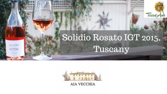 This Solidio Rosato IGT 2015 is the first effort for the folks at Aia Vecchia, and it's a crowd pleaser. It's a brilliant light onionskin...