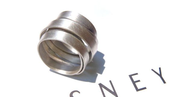 Endless minimal ring in brushed sterling made in your by dikua