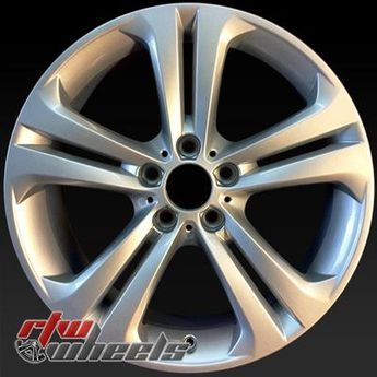 "BMW 320i oem wheels for sale 2012-2014. 19"" Silver rims 71546 - http://www.rtwwheels.com/store/shop/19-bmw-320i-oem-wheels-for-sale-silver-71546/"