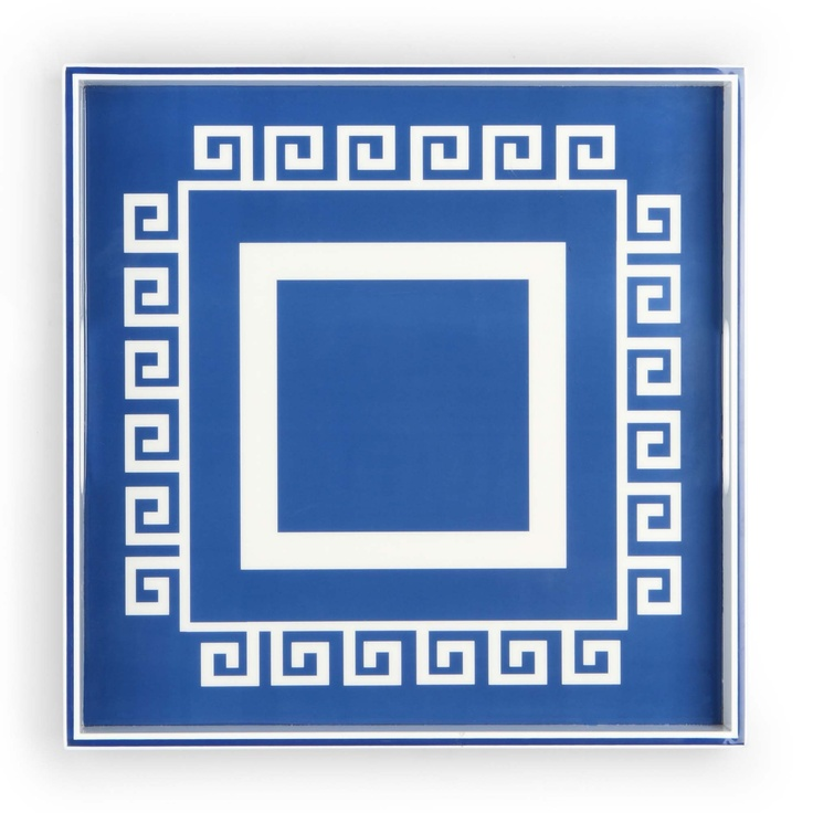 Square Greek Key Lacquer Tray $58.00: Chinoiserie, White Color, Key Lacquer, Greek Key, Square Greek, Design, Blue And White
