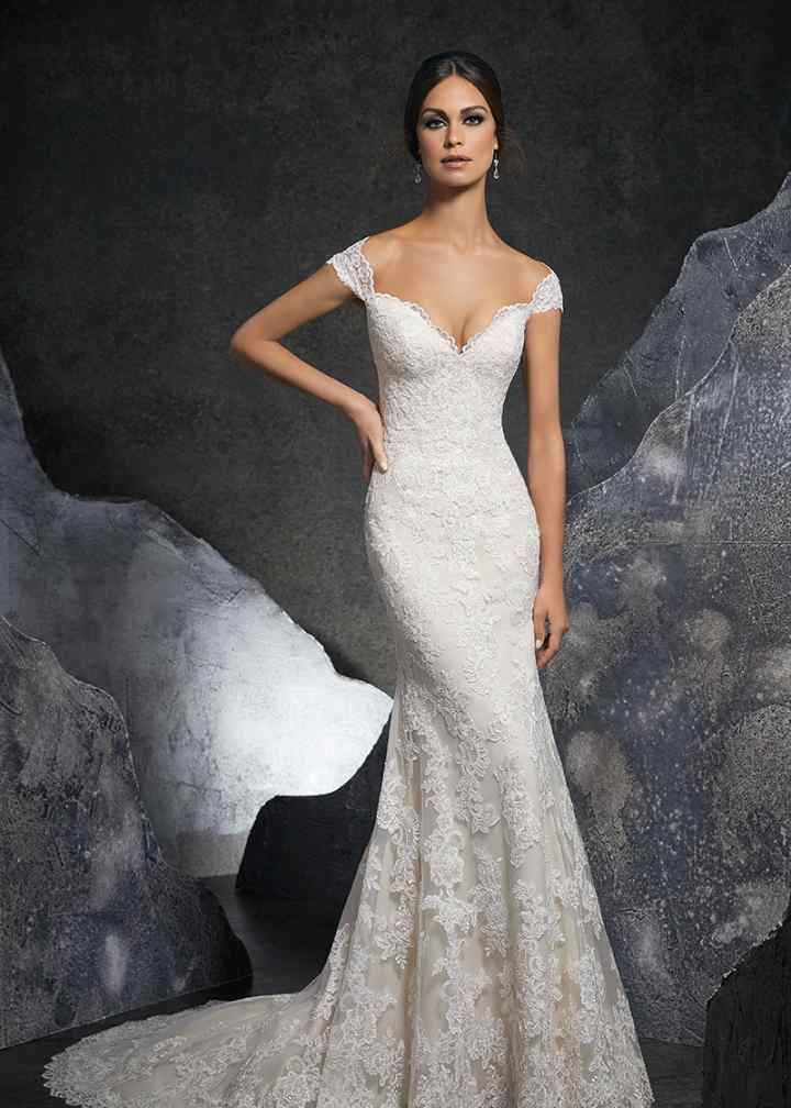 5616 Flared cut / Fit-n-Flare Wedding Dress by Morilee by Madeline Gardner - WeddingWire.com