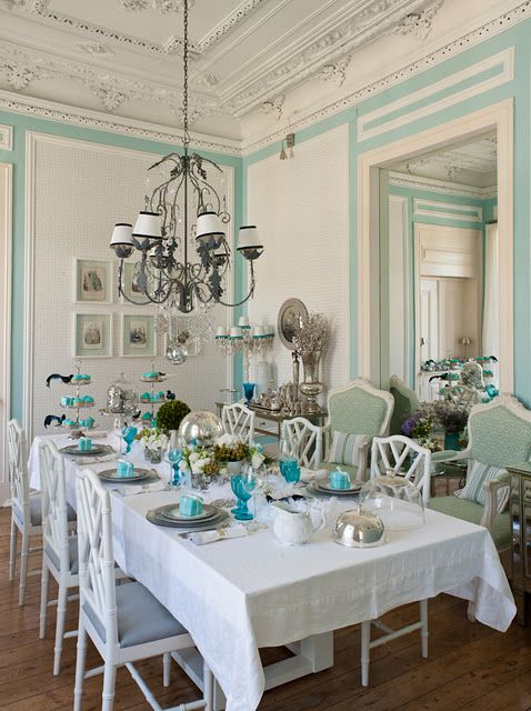 Amazing Tiffany Blue Dining Room
