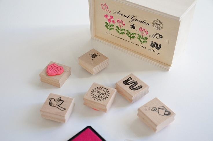 Wee Gallery   Rubber Stamps: Secret Garden Stamp Set