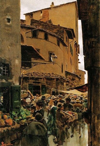 Via Calimala, Florence - Telemaco Signorini (Italian, 1835-1901)